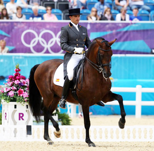 Martin Dockx and Grandioso. at the 2012 Olympics © Ken Braddick/dressage-news.com