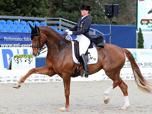 Bella Rose with Isabell Werth. © Ken Braddick/dressage-news.com