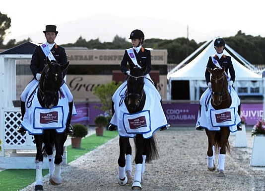 The victorious Netherlands Nations Cup team at the Vidauban CDIO3*. © Rui Pedro Godinho