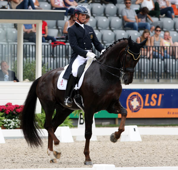 Carl Hester and Dances With Wolves at Rotterdam. © 2013 Ken Braddick/dressage-news.com
