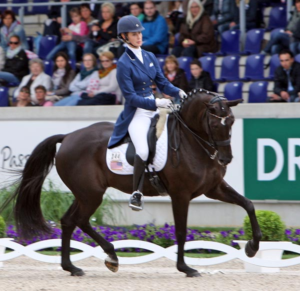 Caroline Roffman and Her Highness O. © 2013 Ken Braddick/dressage-news.com