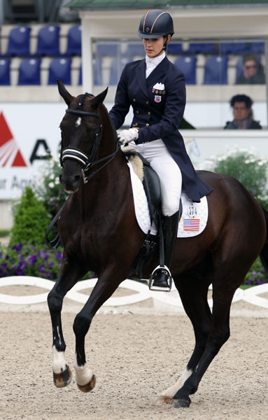 Caroline Roffman and Sagacious HF competing at the Aachen Under-25. © 2013 Ken Braddick/dressage-news.com