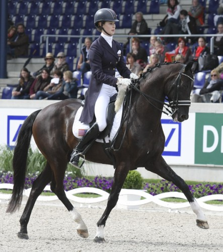 Caroline Roffman rides with maturity and elegance for success at the biggest competition of her career. ©Ilse Schwarz dressage-news.com