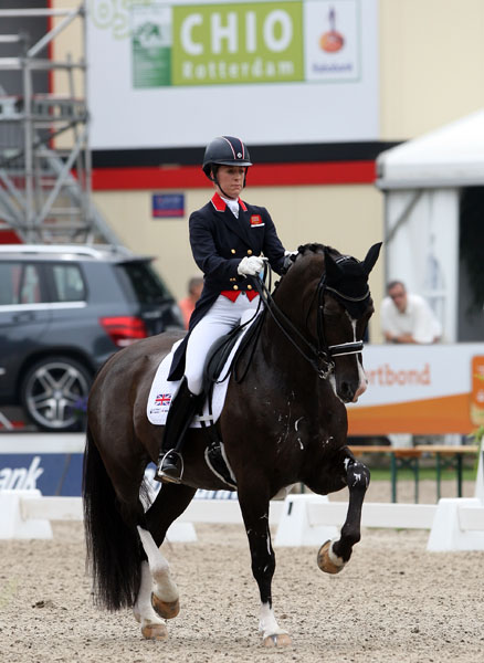 Charlotte Dujardin and Valegro leading Great Britain to victory in the Rotterdam Nations Cup. © 2013 Ken Braddick/dressage-news.com