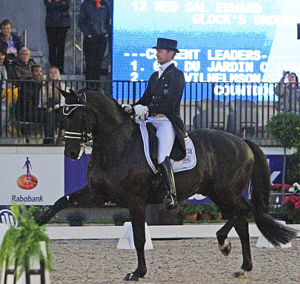 Edward Gal and Glock's Undercover in the Rotterdam CDIO5* grand Prix Freestyle. © 2013 Ken Braddick/dressage-news.com