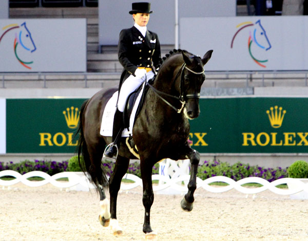 Kristina Sprehe and Desperados FRH. © Ken Braddick/dressage-news.com