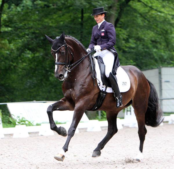 Mikala Gundersen riding My Lady in the Rotterdam CDIO5* Grand Prix Special. ©2013 Ken Braddick/dressage-news.com