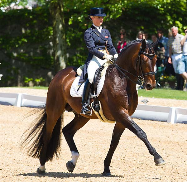 Victoria Max-Theurer and Augustin OLD in their first competition since last summer's Olympic Games. © 2013 Michael_Rzepa