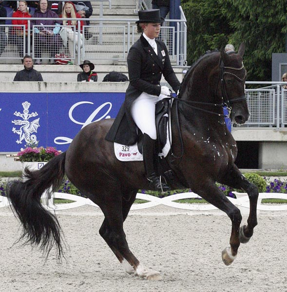 Anna Kasprzak and Donnperignon. © 2013 Ilse Schwarz/dressage-news.com