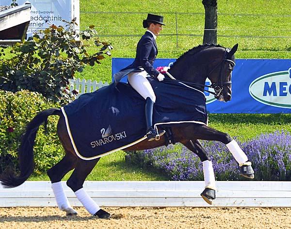 Mikala Gundersen and My Lady at Fritzens CDI4*. ©2013 Claudia Gundersen