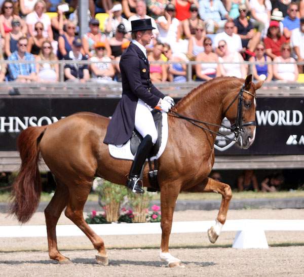Patrik Kittel and Watermill Scandic H.B.C. in the Falsterbo CDI5* Freestyle. © 2013 Pelle Wedenmark/dressage-news.com