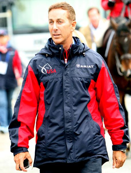 Robert Dover at the World Equestrian Festival in Aachen, Germany. ©2013 Ken Braddick/dressage-news.com