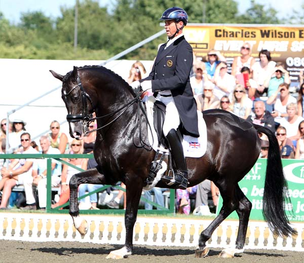 Carl Hester and Uthopia leading Britain to the Nations Cup victory at Hickstead. ©2013 Kn Braddick/dressage-news.com