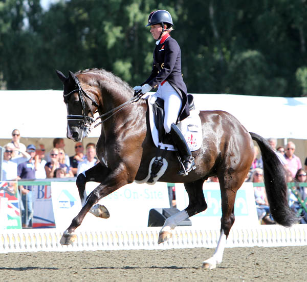 Charlotte Dujardin and Valegro in the Hickstead Grand Prix Special. © 2013 Ken Braddick/dressage-news.com