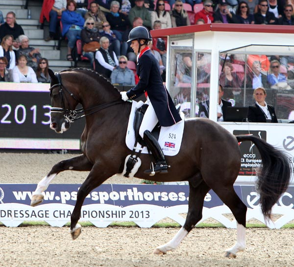 The one-tempi changes that Charlotte Dujardin and Valegro nailed--as they did with virtually all the other movements except for the walk. ©2013 Ken Braddick/dressage-news.com