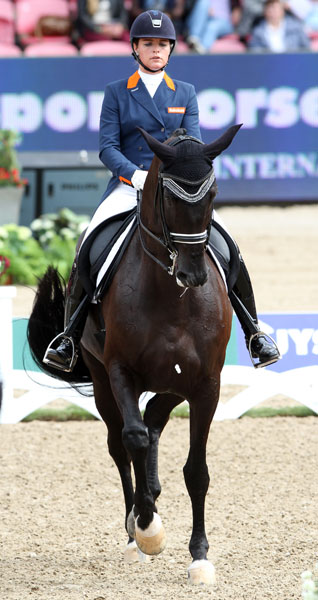 Danielle Heijkoop and Kingsley Siro that a year ago were competing in Under-25 Division now competng in their first chapionships. © 2013 Ken Braddick/dressage-news.com
