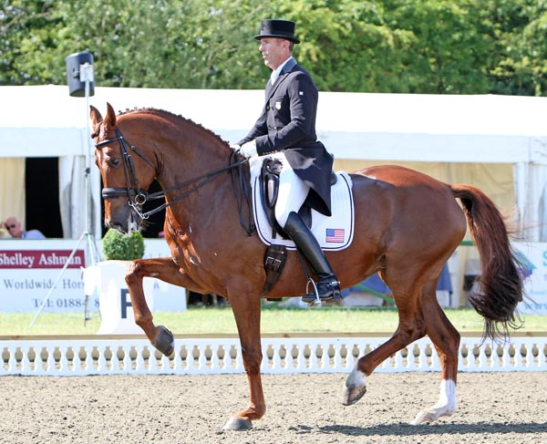 Günter Seidel and Coral Reef Wylea in the Hickstead Nations Cup Grand Prix. © 2013 Ken Braddick/dressage-news.com