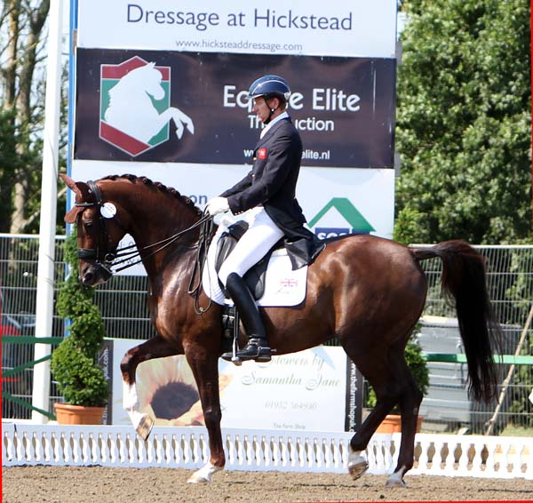 Gareth Hughes and DV Stenjkers Nadonna riding in the Nations Cp Grand Prix. © 2013 Ken Braddick/dressage-news.com