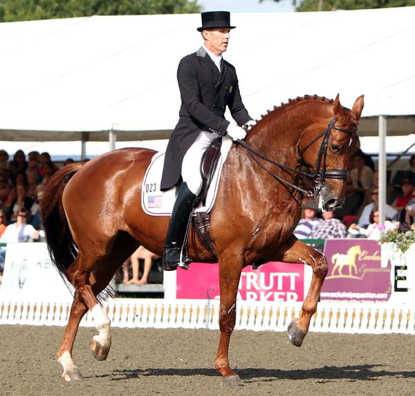 Günter Seidel and Coral Reef Wylea as the anchor combination for the United States tteam in the Nations Cup. © 2013 Ken Braddick/dressage-news.com