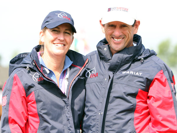 Kathleen Rainer and Dvid Wightman at Hickstead. © 2013 Ken Braddick/dressage-news.com