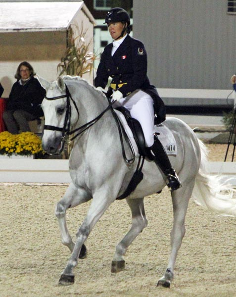 Jacqueline Brooks on D Niro in the ride that resulted in the Canadian Olympian posting her lifetime best CDI Grand Prix result. Ken Braddick/dressage-news.com