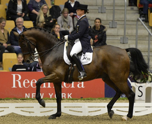 Isabell Werth and Don Johnson FRH. © 2013 Ken Braddick/dressage-news.com