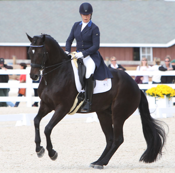 Kimberly Herslow and Rosmarin. © Ken Braddick/dressage-news.com