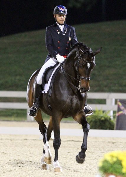 Steffen Peters and Ravel in the USA National Championship Grand Prix Freestyle. © 2013 Ken Braddick/dressage-news.com
