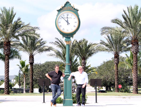 Lloyd Landkamer (right) and Thomas Baur, managers of the Global Dressage Festival at the Palm Beach Internationa; Equestrian Ceter Stadium commlex in Wellington, Florida. © Ken Braddick/dressage-news.com