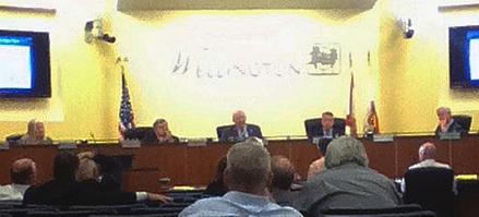 Village of Wellington council meeting Thursday night. © 2013 Ken Braddick/dressage-news.com