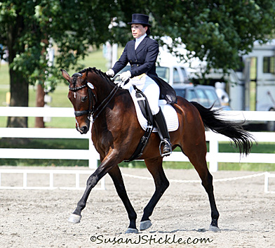 Mindy Elgart and Gladiator, one of the combinations in the US Dressage Finals. © SusanJStickle.com