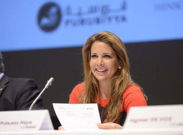 Princess Haya, the International Equestrian Federation (FEI) president, after more than 100 nations signed a petition asking her to stay for a third term.  Photo: Richard Juilliart/FEI