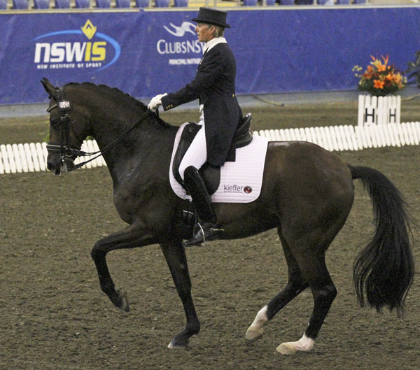 Mary Hanna and Sancette competing at the Australian Championships World Cup event. ©2013 Ilse Schwarz/dressage-news.com