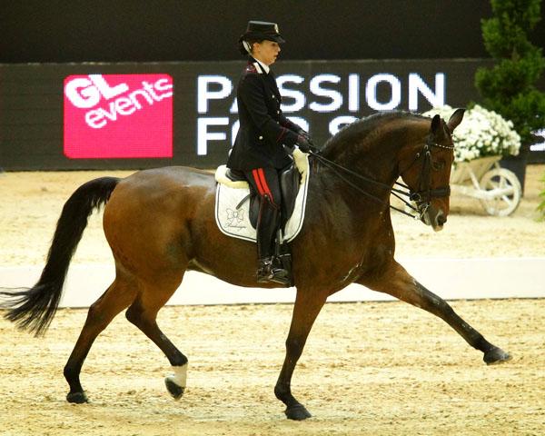 Valentina Truppa riding Fixdesign Eremo del Castegna to victory in the Lyon CDI4* Freestyle. © 2013 Equita/PSV J. Morel