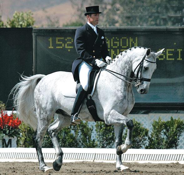 Günter Seidel riding Aragon at the 2004 Olympic selection trials at San Juan Capistrano, California. © Ken Braddick/dressage-news.com