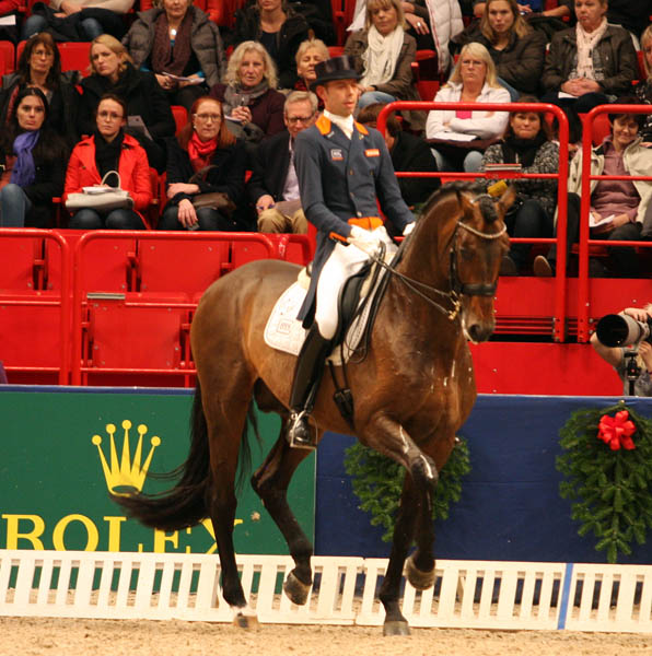 Hans Peter Minderhoud and Glock's Romanov at Stockholm World Cup. © 2013 Pelle Wedenmark,dressage-news.com