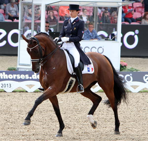 Jessica Michel and Riwera de Hus. © 2013 Ken Braddick/dressage-news.com