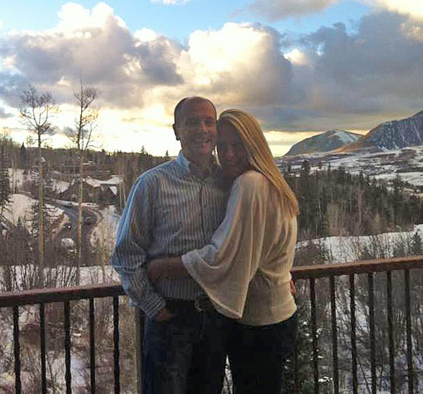 Lars Petersen and Melissa Taylor after their marriage in Colorado on Christmas Eve.