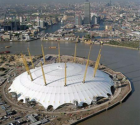 London's North Greenwich Arena, previously named O2 Arena