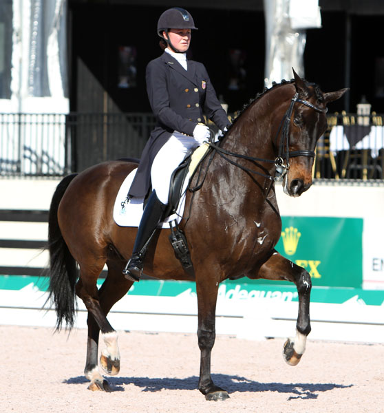 Adrienne Lyle and Wizard in the World Cup Grand Prix. © 2014 Ken Bradduck/dressage-news.com