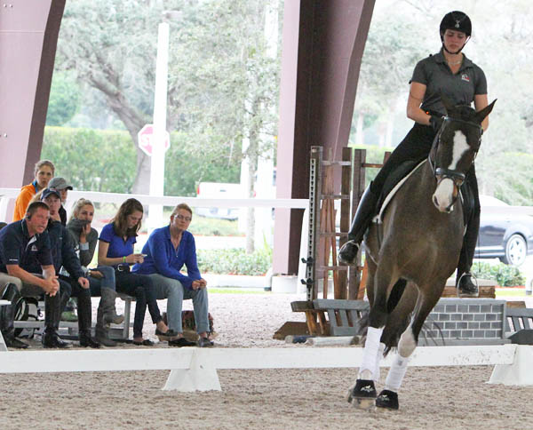 Anna Marek on Elian, a five-year-old Dutch Warmblood. © 2014 Ken Braddick/dressage-nes.com