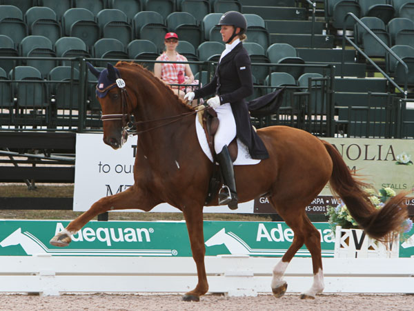 Heather Blitz riding Paragon in the CDI-W Grand Prix Special in Wellington. © 214 Ken Braddick/dressage-news.com