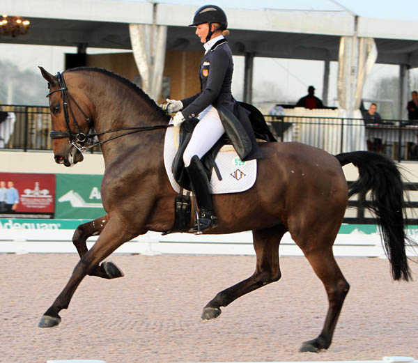 Katherine Bateson-Chandler and Wellnetta in the World Cup Grand Prix Special. © 2014 Ken Braddick/dressage-news.com