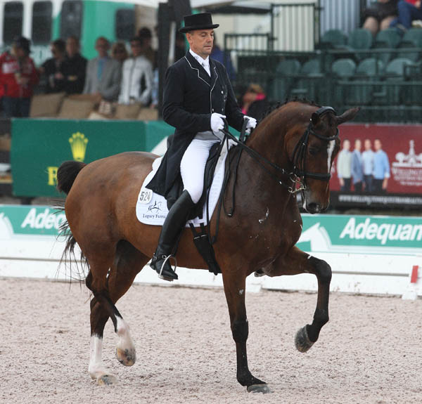 Lars Petersen and Mariett in the Global Dressage Festival opening World Cup Grand Prix. © 2013 Ken Braddick/dressage-news.com