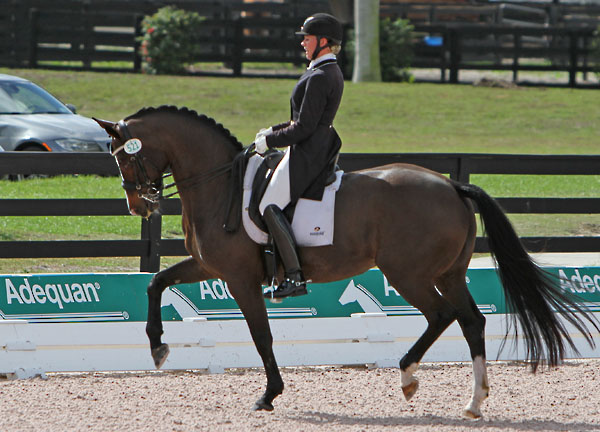 Megan Lane and Caravella. File photo. © Ken Braddick/dressage-news.com