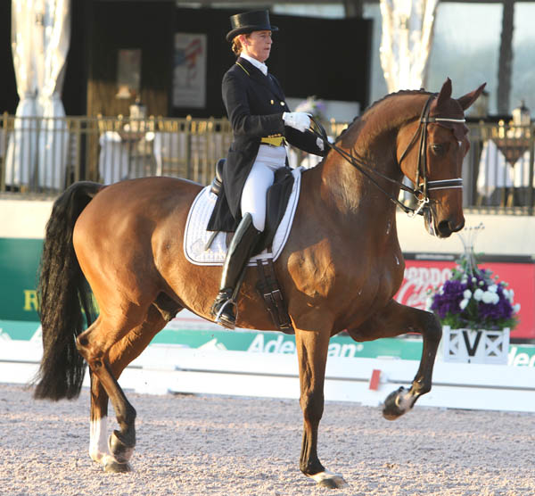 Tinne Vilhelmsson-Silfvén and Divertimento in the World Cup Grand Prix Special. © 2014 Ken Braddick/dressage-news.com