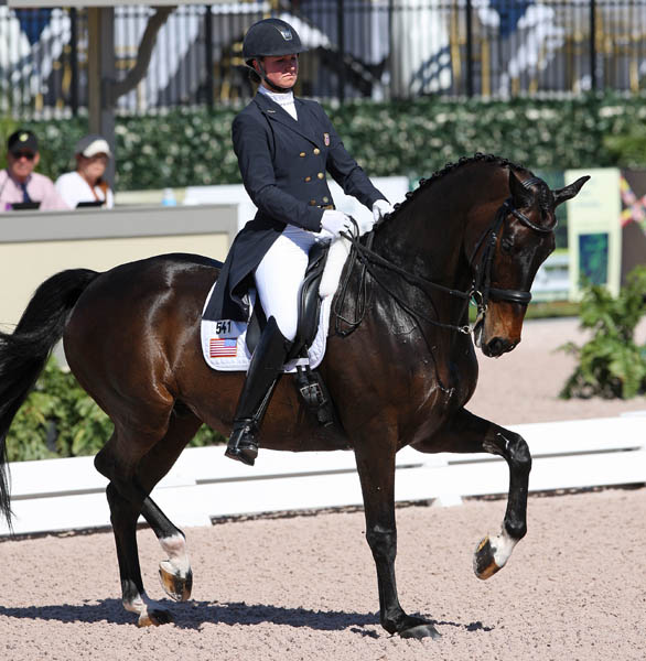The United States' Adrienne Lyle and Wizard in the Wellington Nations Cup. © 2014 Ken Braddick/dressage-news.com
