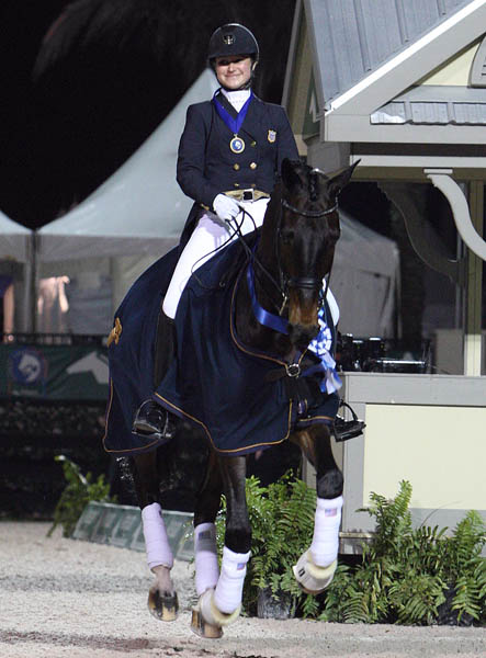 Adrienne Lyle & Wizard Win Wellington Nations Cup Freestlyle Gold...