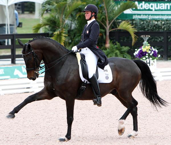 Adrienne Lyle and Wizard in the CDI4* Grand Prix. © 2014 Ken Braddick/dressge-news.com