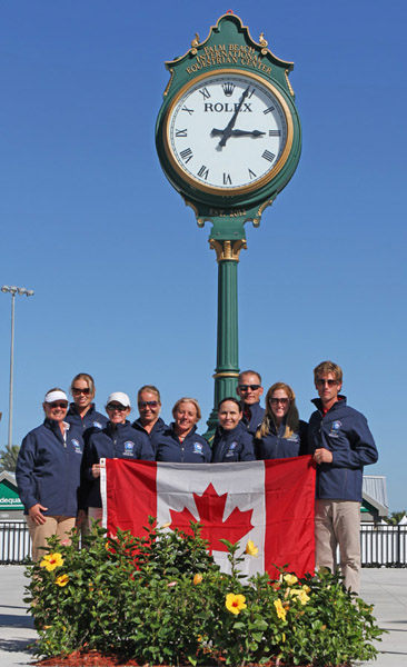 The two Canadian teams. © 2014 Ken Braddick/dressage-news.com